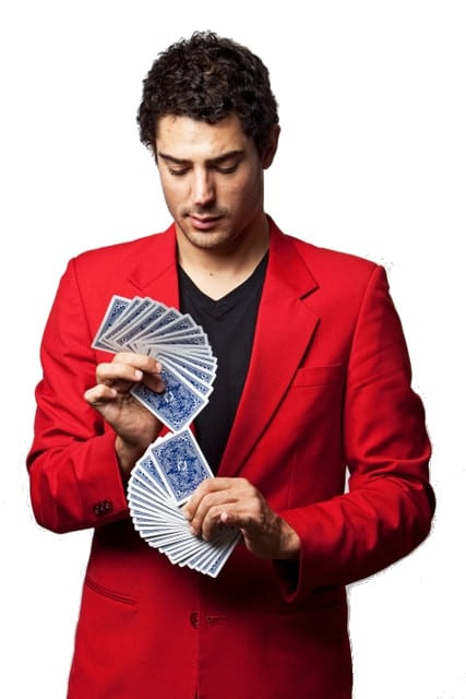 Magician Sydney - Liam Power, Sydney Magician card fan promo photo