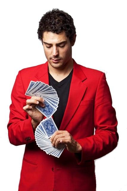 Magician Sydney - Liam Power, Sydney Magician card fan promo photo