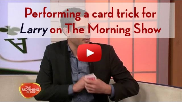 Magician Sydney - Liam Power Sydney Magician performing close up magic on TV