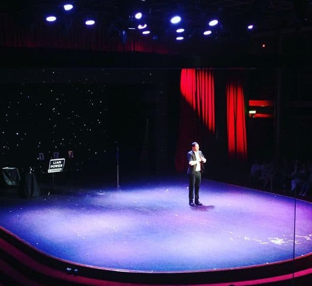 Magician Sydney | Liam Power performing a stage show on a cruise ship